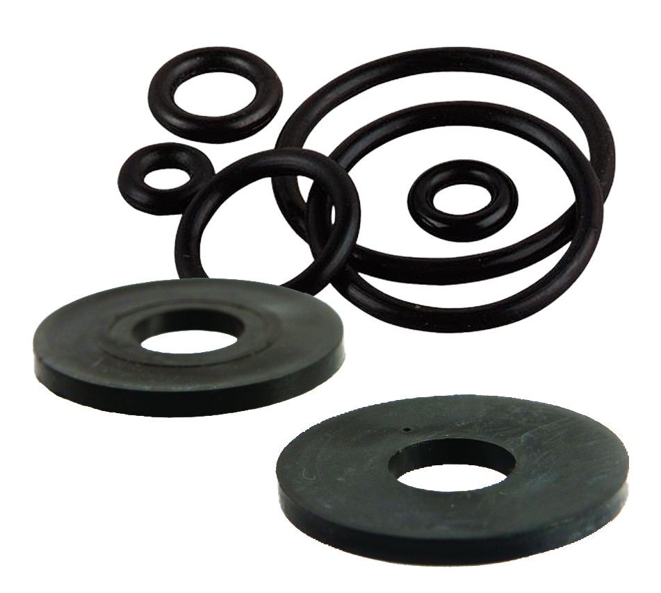 M6 Black Rubber Washers 100 Pack