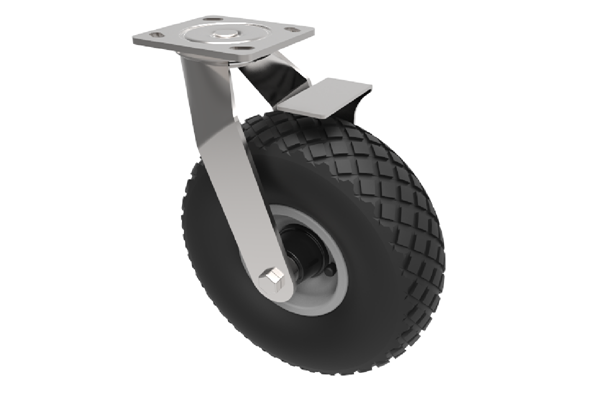 Castors with Puncture Proof Wheels Diamond with Brake.png