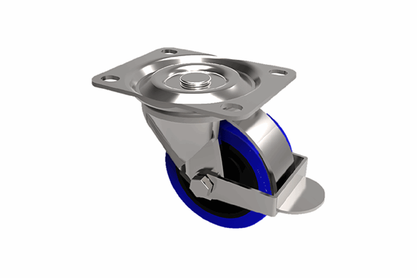 Budget Castors Swivel & Brake Castors Blue Rubber Tyre.png
