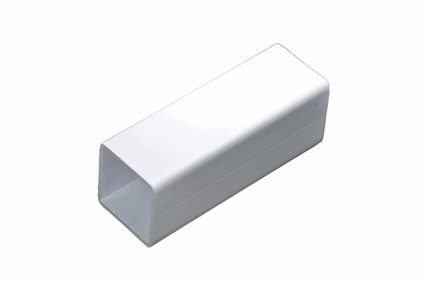 Plastic Box Section Square Tubes White.png